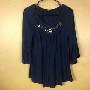 Women's blouse, size small, navy blue